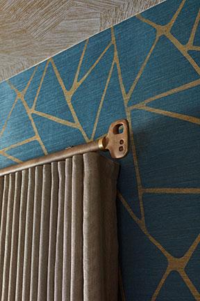 detail of ripple fold pleat