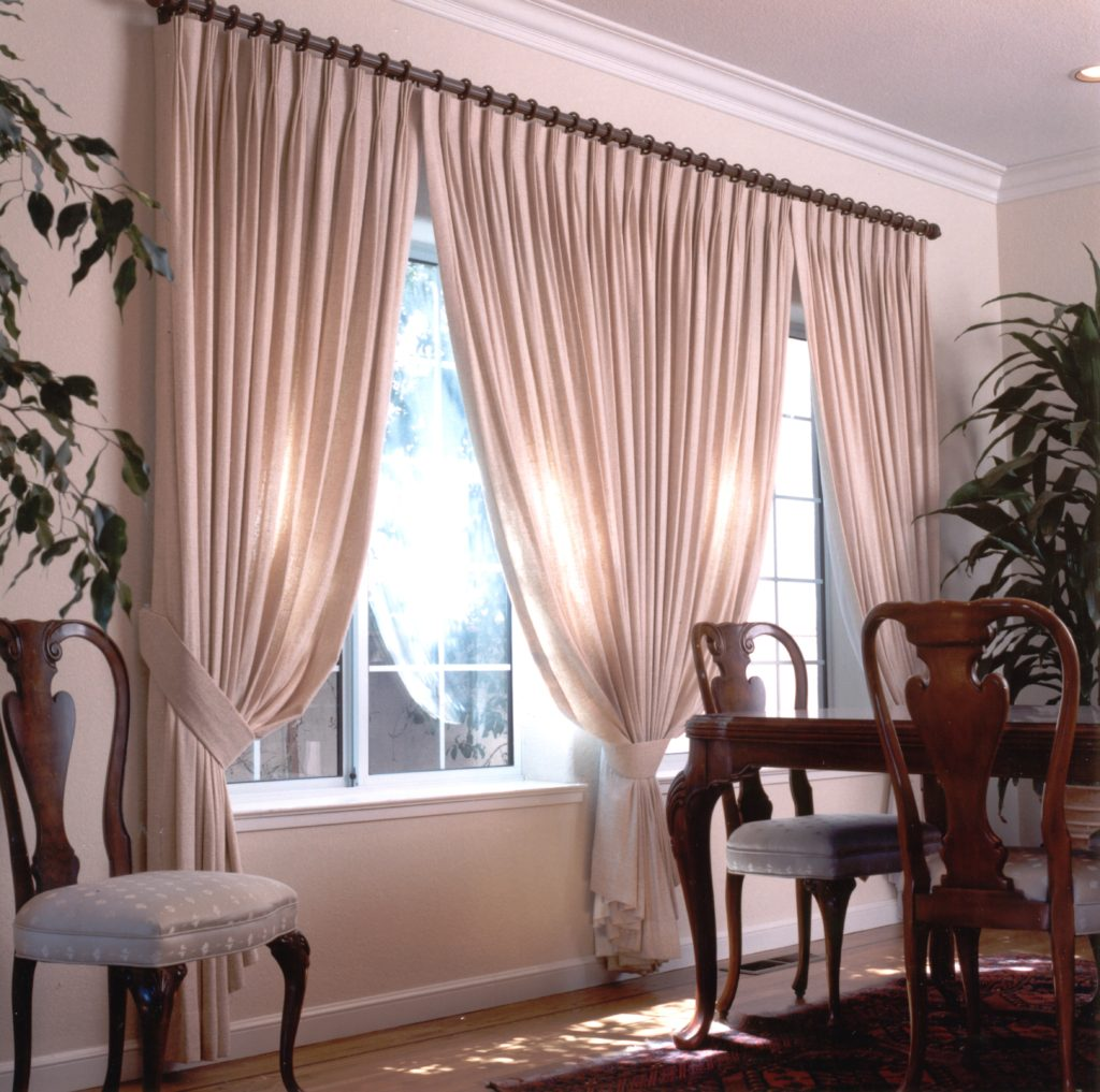 Pleated drape window treatment in Contra Costa County